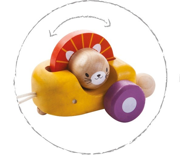 Nachziehspielzeug Happy Engine Tiere