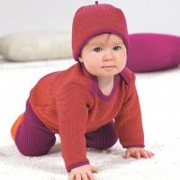 Vorschau: Melange-Pullover 100% Merino Schurwolle