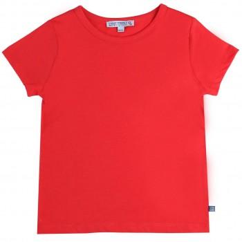 Rotes Shirt kurzarm uni Basic
