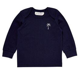Baby Langarmshirt mit soften Armbündchen navy