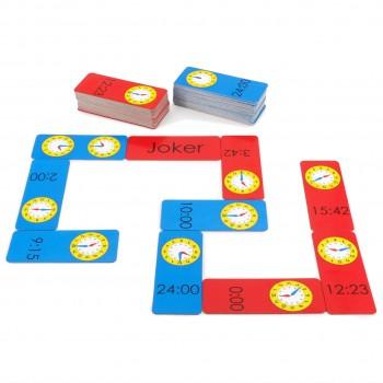 Spielerisch die Uhrzeit lernen mit Domino