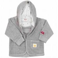 Vorschau: Bio Babyjacke aus warmen Frottee - Prinz