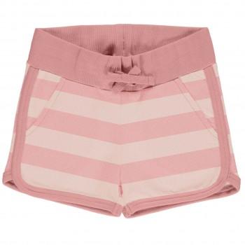 Leichte Jersey Shorts in altrosa Streifen