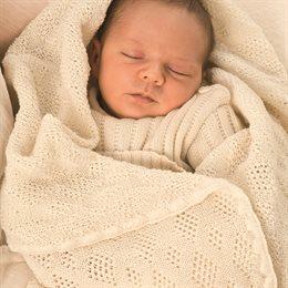 Leichte Babydecke Wolle Bio 80x100 cm ungefärbt
