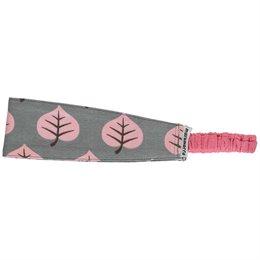 Mädchen Haarband rosa Blätter in grau