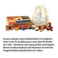 Vorschau: 63 natürliche Regenbogen Bauklötze mit Box