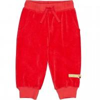 Weiche Frotteehose Taschen in rot