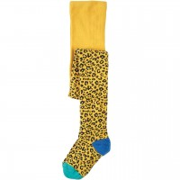 Leoparden Strumpfhose mitwachsend gelb