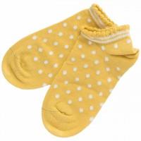 Kinder Sneaker Socken gepunktet senfgelb