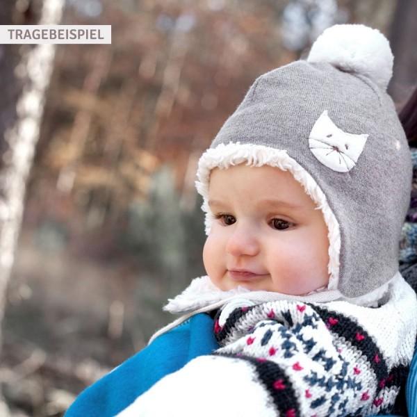 Wintermütze für Babys - Kätzchen