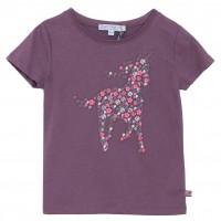 Hochwertiges Bio Mädchen Shirt gesticktes Pferd