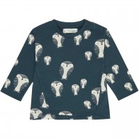 Eulen  navy  Shirt  langarm
