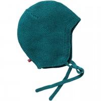 Strickmütze zum Binden smaragdgrün