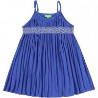 Sommer Kleid Musselin Spaghettiträger blau
