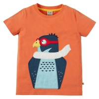 T-Shirt Adler Aufnäher orange