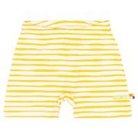 Leichte Streifen Shorts gelb