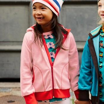 Kuschelige Kapuzen Jacke Nicki in rosa