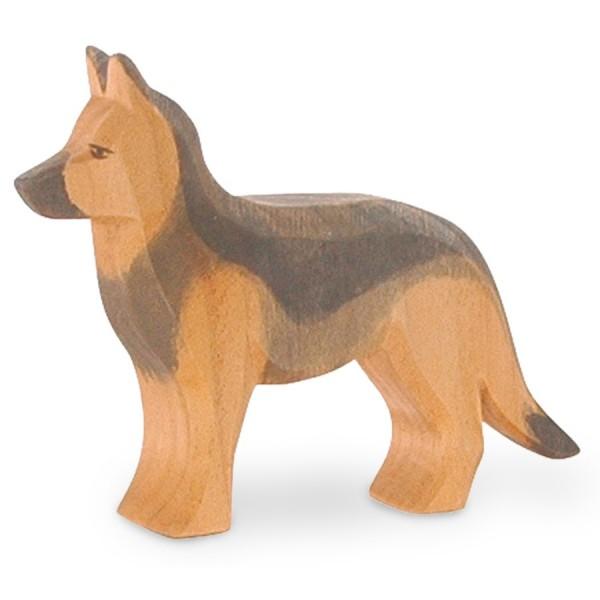 Schäferhund stehend Holzfigur 7,5 cm hoch