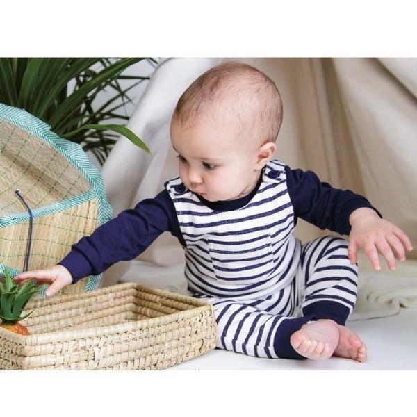 Bio Langarmshirt Baby OLE mit Knöpfen - Safari