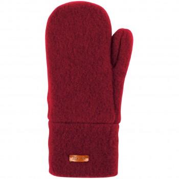 Kinder Handschuhe Wolle weinrot