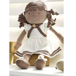Bio Stoff Puppe braun & natürlich schön - Naomi