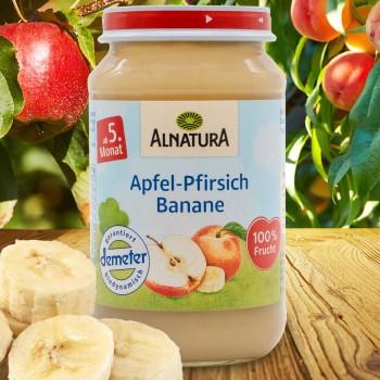 Apfel mit Banane für Babys nach dem 4. Monat (190g)