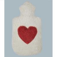 Auslaufsichere Wärmeflasche Herz geruchsneutral