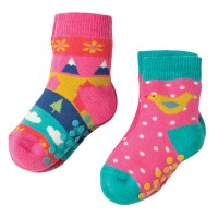 Stoppersocken 2er Pack rosa