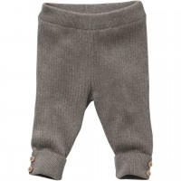 Warme Strickhose in taupe meliert