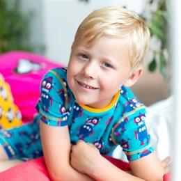 Sommer Jungen Bio Schlafanzug Robot