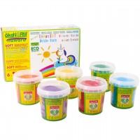 Soft Knete nawaro Set in 6 Farben - Einhorn
