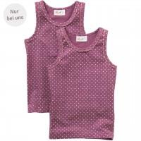 Unterhemd lila Doppelpack - Exklusiv bei greenstories