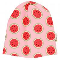 Leichte Beanie Wassermelonen rosa