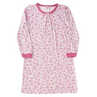 Vorschau: Nachthemd leicht in langarm rosa Hühner