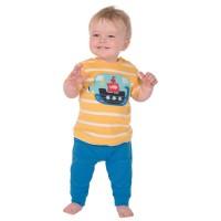 Vorschau: Babyhose mit Kniepolster blau