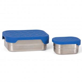 Edelstahl Brotdose für Schule & Freizeit blau