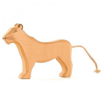 Löwe Zootiere Holzfigur 11 cm hoch
