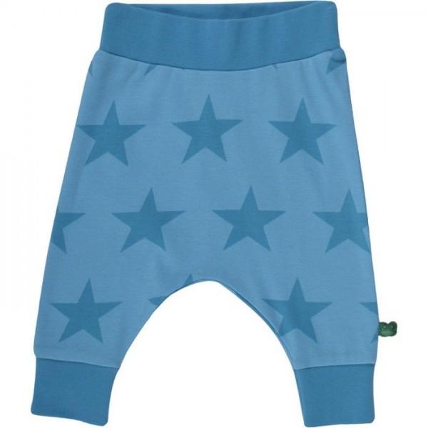 "Bio Krabbelhose funky Pants ""Sterne"" - blau"