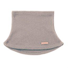 Schlauchschal aus Schurwolle beige grau