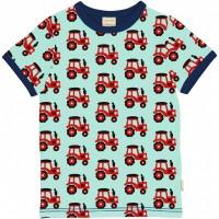 Kurzarmshirt Traktor hellblau
