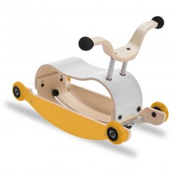 3in1 Rutschfahrzeug ab 9 Monate - Mini Flip weiß/gelb