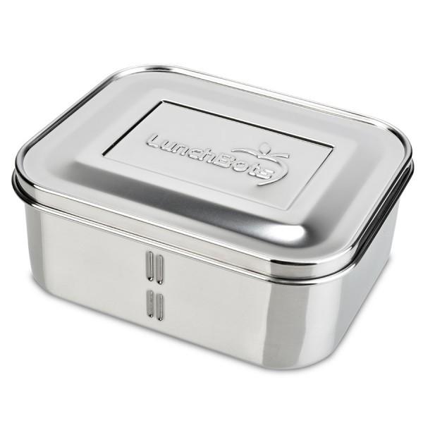 Tiefe Lunch Box Edelstahl Fächer teilbar Deep Duo