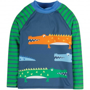 Badeshirt Krokodile navy
