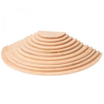 Halbkreise Platten natur Set