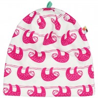 leichte Mütze Faultiere in pink/hell