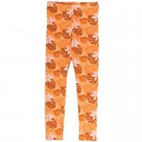 Blätter Leggings in hellem orange
