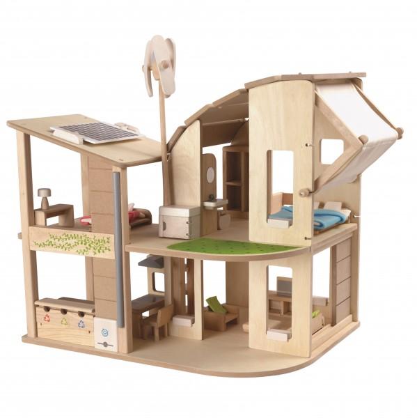 """""""Grünes"""" - ökologisches Wohnen im Puppenhaus, komplett möbli"""