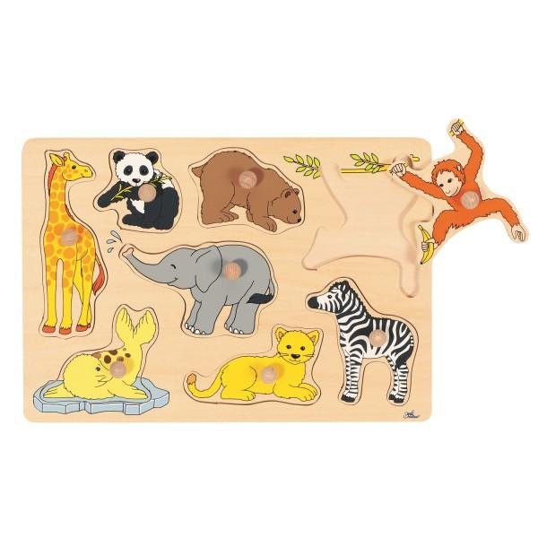 Steckpuzzle Zoo-Tiere - 8 tlg