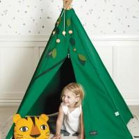 Kinder Tipi Bio Baumwolle 135 x 135 x 150 cm grün