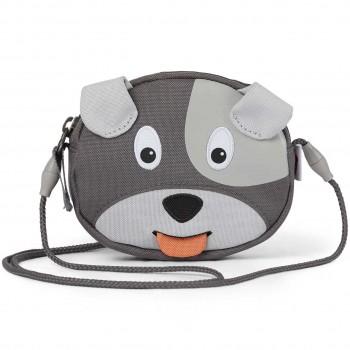 Geldbeutel mit Ziehzunge Hund grau 13 x 10,5 cm
